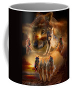Dream Catcher - Wolfland Coffee Mug by Carol Cavalaris
