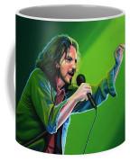Eddie Vedder Of Pearl Jam Coffee Mug by Paul Meijering