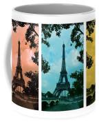 Eiffel Tower Paris France Trio Coffee Mug by Patricia Awapara