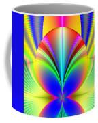 Electric Rainbow Orb Fractal Coffee Mug by Rose Santuci-Sofranko