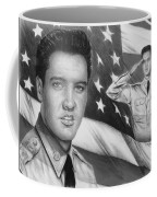 Elvis Patriot Bw Signed Coffee Mug by Andrew Read