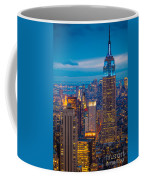 Empire State Blue Night Coffee Mug by Inge Johnsson
