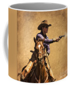 End Of Trail 2012 Mounted Shooting Coffee Mug by Priscilla Burgers