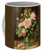 English Elegance Roses In A Glass Coffee Mug by Albert Williams