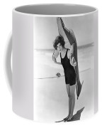 Fanny Brice And Beach Toy Coffee Mug by Underwood Archives