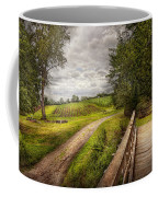 Farm - Landscape - Jersey Crops Coffee Mug by Mike Savad