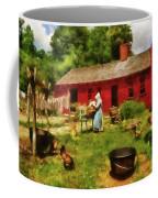 Farm - Laundry - Old School Laundry Coffee Mug by Mike Savad