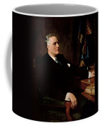 Fdr Official Portrait  Coffee Mug by War Is Hell Store