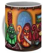 Fiesta Cats Or Gatos De Santa Fe Coffee Mug by Victoria De Almeida