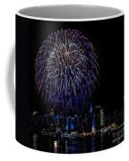 Fireworks In New York City Coffee Mug by Susan Candelario