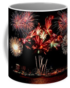 Fireworks Over The Delaware Coffee Mug by Nick Zelinsky