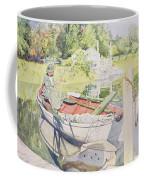 Fishing Coffee Mug by Carl Larsson