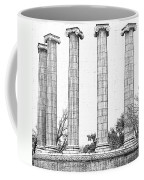 Five Columns Sketchy Coffee Mug by Debbie Portwood