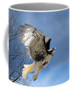Flight Of The Red Tail Coffee Mug by Bill Wakeley
