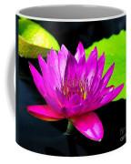 Floating Purple Water Lily Coffee Mug by Nick Zelinsky