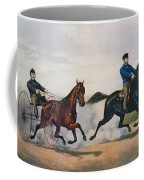 Flora Temple And Lancet Racing On The Centreville Course Coffee Mug by Currier and Ives