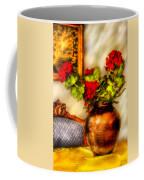 Flower - Geraniums On A Table  Coffee Mug by Mike Savad
