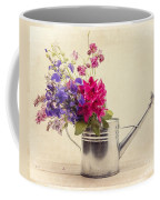 Flowers In Watering Can Coffee Mug by Edward Fielding