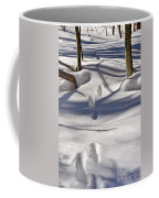 Footprints In The Snow Coffee Mug by Louise Heusinkveld