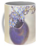 Forget Me Nots In Blue Vase Coffee Mug by Lyn Randle