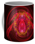 Fractal - Insect - Jeweled Scarab Coffee Mug by Mike Savad