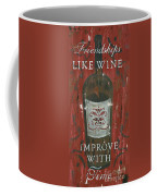 Friendships Like Wine Coffee Mug by Debbie DeWitt