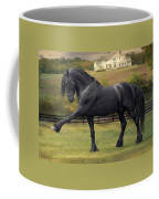 Friesian Stallion Tije Spanish Walk Coffee Mug by Fran J Scott