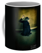 Frightened Woman Coffee Mug by Jill Battaglia