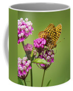 Fritillary Butterfly Square Format Coffee Mug by Christina Rollo