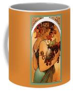 Fruit Coffee Mug by Alphonse Maria Mucha