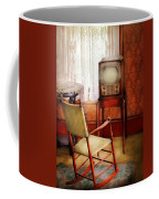 Furniture - Chair - The Invention Of Television  Coffee Mug by Mike Savad