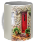 Geraniums By Red Door Coffee Mug by Susan Savad