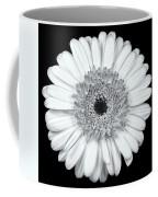 Gerbera Daisy Monochrome Coffee Mug by Adam Romanowicz