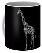Giraffe Is The Word Coffee Mug by Heather Applegate