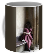 Girl On Pew Coffee Mug by Joana Kruse