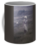 Girl With Sheeps Coffee Mug by Joana Kruse