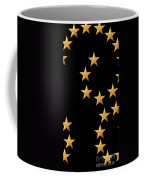 Gold Stars Abstract Triptych Part 2 Coffee Mug by Rose Santuci-Sofranko