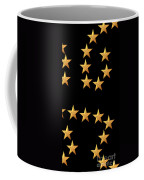 Gold Stars Abstract Triptych Part 3 Coffee Mug by Rose Santuci-Sofranko