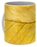 Golden Beech Leaf Coffee Mug by Anne Gilbert