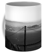 Golden Gate And Bay Bridges Coffee Mug by Linda Woods