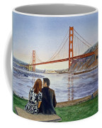 Golden Gate Bridge San Francisco - Two Love Birds Coffee Mug by Irina Sztukowski
