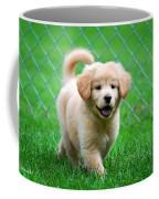 Golden Retriever Puppy Coffee Mug by Christina Rollo