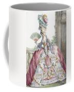 Grand Robe A La Francais, Engraved Coffee Mug by Claude Louis Desrais