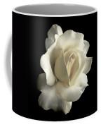 Grandeur Ivory Rose Flower Coffee Mug by Jennie Marie Schell