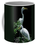 Great Egret Pair Coffee Mug by Skip Willits