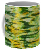 Green And Yellow Abstract Coffee Mug by Dan Sproul