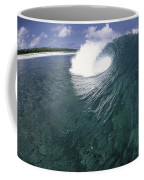 Green Curl Coffee Mug by Sean Davey