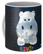 Grunt The Hippo License Plate Art Coffee Mug by Design Turnpike