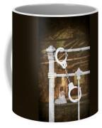 Handcuffs On Bed Coffee Mug by Amanda Elwell