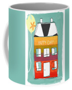 Happy Day Card Coffee Mug by Linda Woods